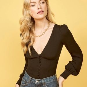 🌟nwot Reformation Black Top size small